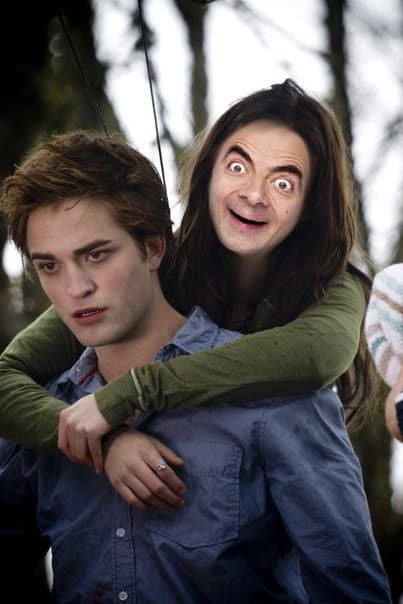 These hilarious photoshopped pictures of Mr. Bean will make your day. Here is Mr. Bean starring in the Twilight Saga.