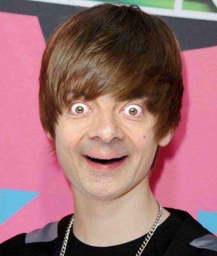 These hilarious photoshopped pictures of Mr. Bean will make your day. Here is Mr. Bean as Justin Bieber.