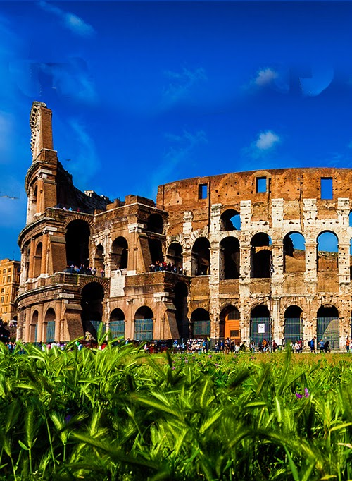 Also known as the Flavian Amphitheater, Colosseum in Rome is the largest amphitheater in the world.