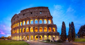 Colosseum in Rome was completed in 82 A.D.