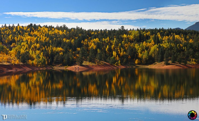 American landscape seen through the eyes of Thomas Jarry. This is Crystal Creek reservoir in Colorado.