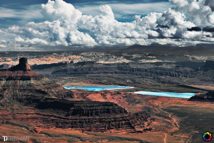 American landscape seen through the eyes of Thomas Jarry. This is dead Horse Point in Utah.