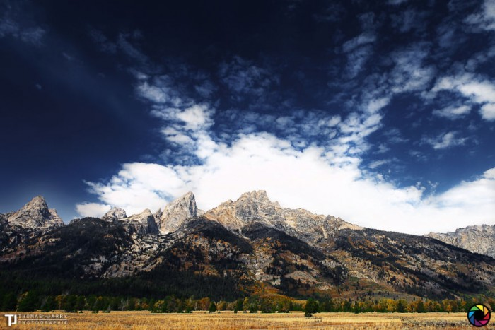 American landscape seen through the eyes of Thomas Jarry. This is Grand Tetom National Park in Wyoming.