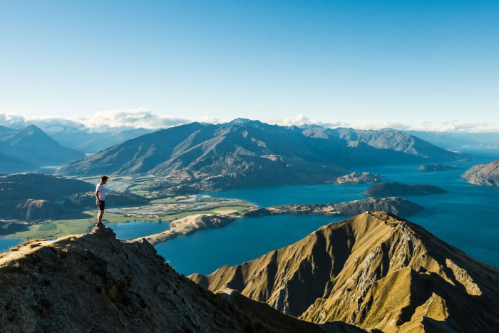 Then he proceeded to Wanaka. It was one of the most beautiful parts of his whole trip around New Zealand.