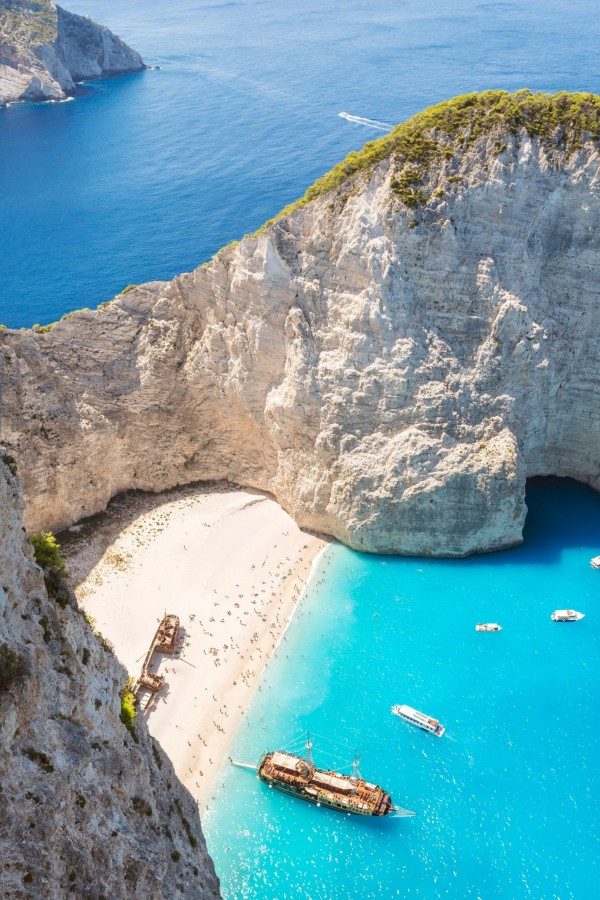 Navaggio beach, also known as Shipwreck beach, in Zakynthos in Greece is on the list of the best beaches to visit this summer.