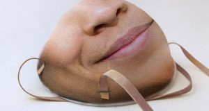 Facial recognition face masks are a new product by Danielle Baskin.