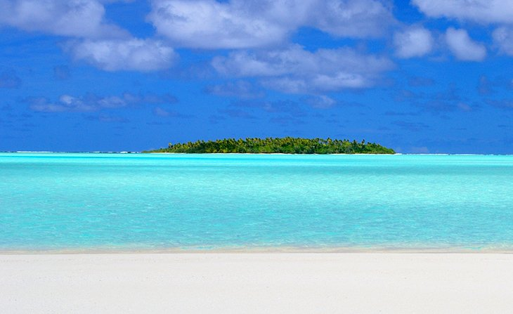 Aitutaki is the second most visited island. This is where you'll find the world's most beautiful lagoon