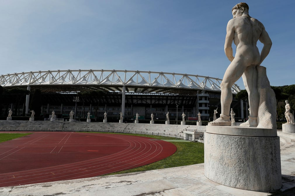 Beautiful Italy under quarantine. This is how the Olympic stadium in Rome looks today.
