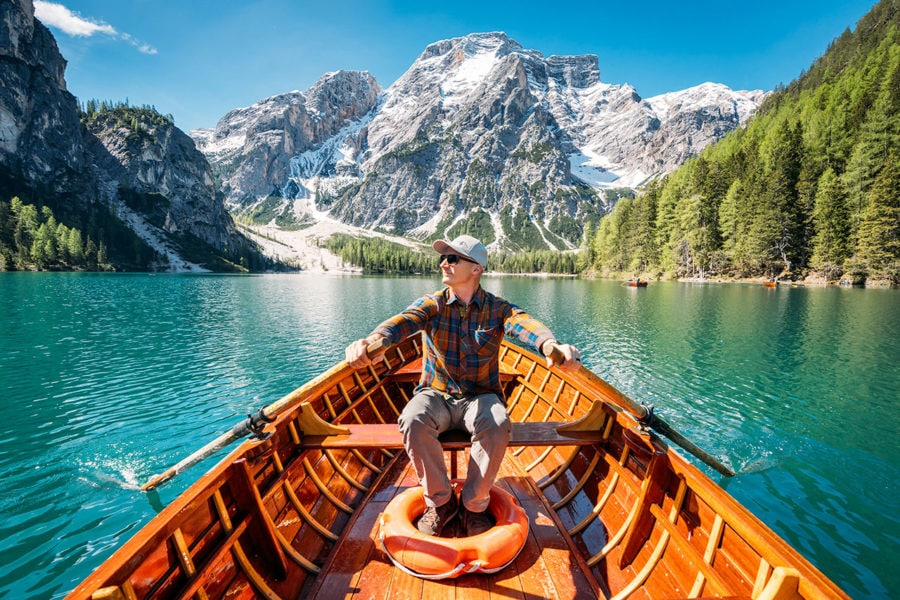 Lago di Braies is one of the most beautiful lakes in the Alps.