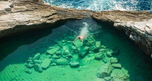 Giola Lagoon, a natural pool in Thassos has one of the most amazing swimming pools in the world.