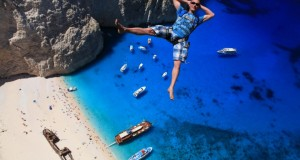 Enjoy the amazing video of BASE jumping in Zakynthos Island, Greece.