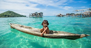 The Bajau people in Borneo are called sea gypsies, as they sail from place to place in search of food.