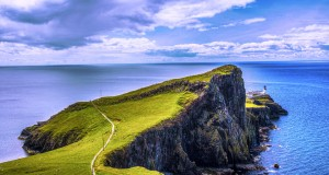 Neist Point in the Isle of Skue is one of top 15 Scotland tourist attractions.