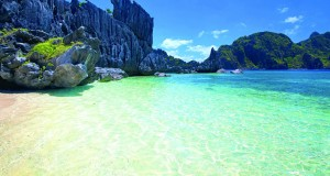 Beautiful Palawan beaches captured from the air.
