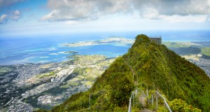 One of the most popular hiking trails in the world is Haiku stairs in Hawaii.