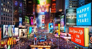 Times Square is on the third place of the 20 most checked-in places on Facebook in 2015.
