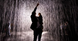 Experience walking through rain without getting wet at LACMA.